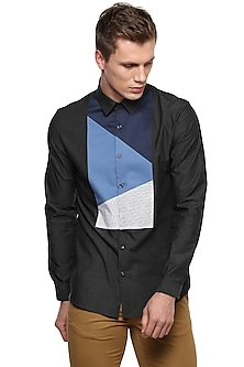 Dark Grey Striped Shirt by LACQUER Embassy