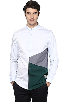 Light Blue Cotton Shirt by LACQUER Embassy