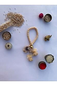 Rose Gold Digital Printed Lumba Rakhi by Loyalty and Gifting-LUMBA RAKHIS