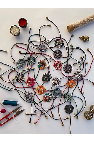 Multi Colored Digital Printed Rakhis (Set of 20) by Loyalty and Gifting