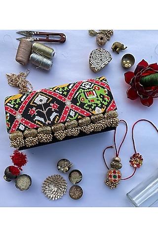Multi Colored Digital Printed Rakhi Set (Set of 3) by Loyalty and Gifting