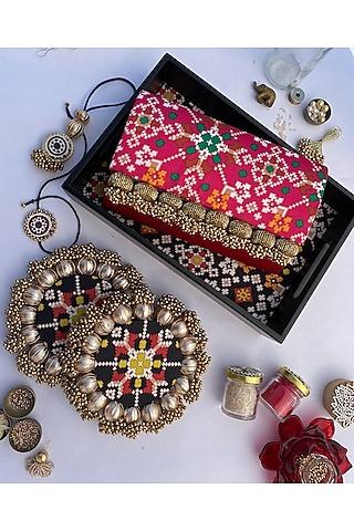 Multi Colored Digital Printed Rakhi Set (Set of 7) by Loyalty and Gifting