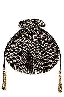 Black and gold beads potli/pouch by Lovetobag