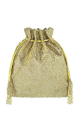 Gold Embroidered Cesta Potli Bag by Lovetobag