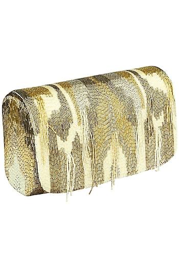 Gold Amber SQB Clutch by Lovetobag