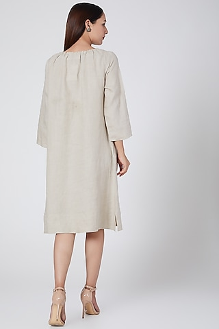 Beige dress by Linen Bloom