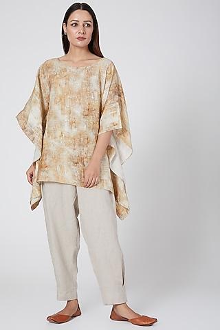 Hazel print kaftan top by Linen Bloom