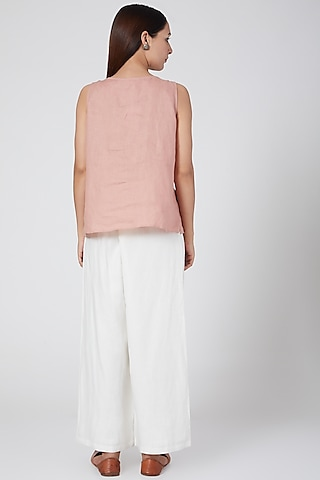 Ivory Elasticated Pants by Linen Bloom