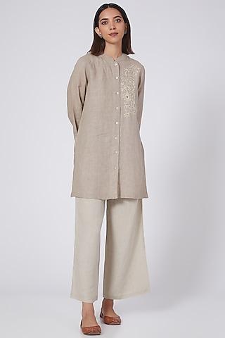 Beige Linen Pants by Linen Bloom