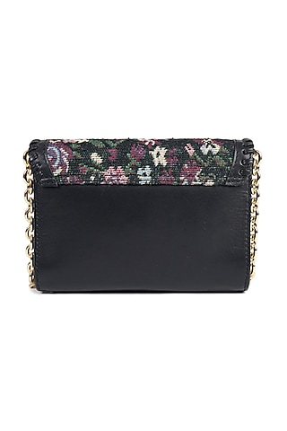Black Leather Crossbody Shoulder Bag by The Leather Garden