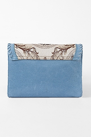 Powder blue Leather Crossbody Shoulder Bag by The Leather Garden