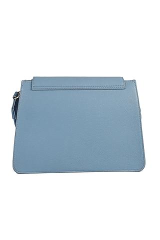 Powder Blue Embroidered Crossbody Handbag by The Leather Garden