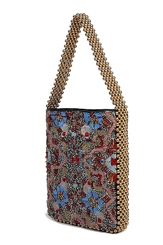Multi Colored Embroidered Handbag by The Leather Garden