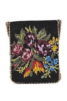 Multi Colored Beads Embroidered Handbag by The Leather Garden-ACCESSORIES AS GIFTS
