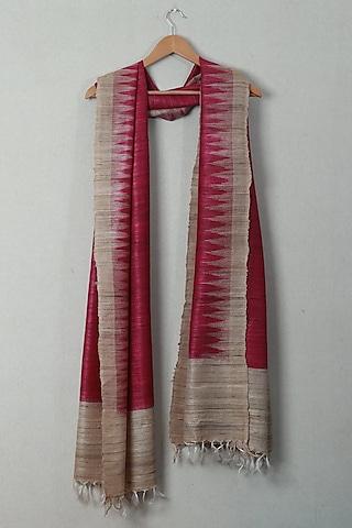 Maroon Tie-Dye Dupatta by Itsree