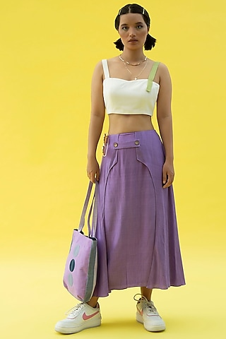 Cherry Blossom Purple Skirt by Label Meesa