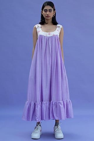 Cherry Blossom Purple Dress by Label Meesa