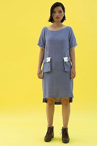 Tradewind Blue Cotton Dress by Label Meesa
