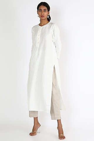 White Linen Tunic by Linen And Linens