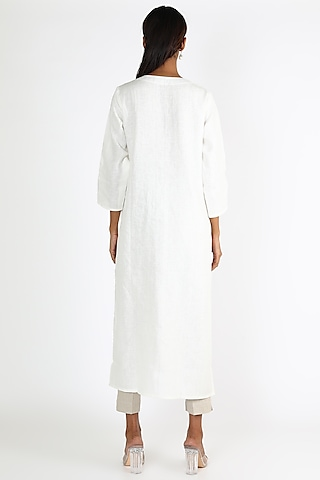 Off White Linen Trouser Pants by Linen And Linens
