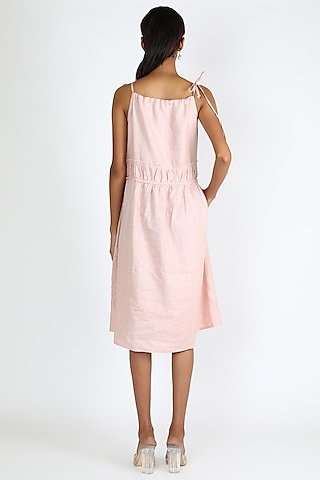 Blush Pink Skater Dress by Linen And Linens