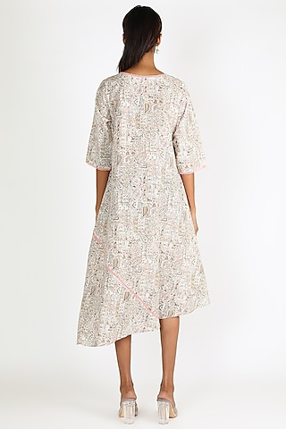 Multi Colored Printed Dress by Linen And Linens