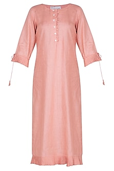 Peach linen tunic by Linen and Linens