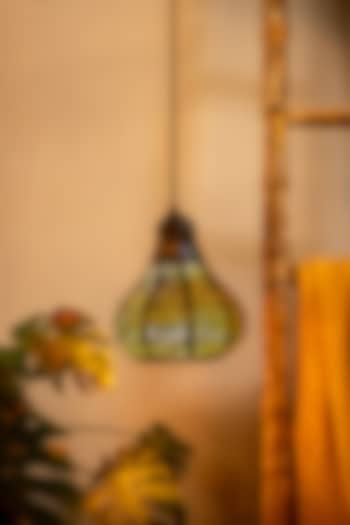 Matt Black & Gold Hanging Light by Logam
