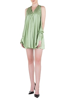 Sage Green Lace Cutwork Playsuit by LOLA by Suman B