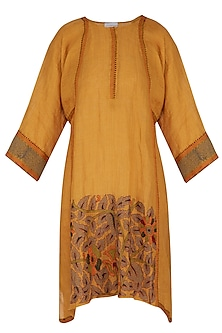 Burnt Orange Embroidered Tunic by Latha Puttanna