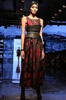 Brown Aztec Printed Dress by Label Ritu Kumar