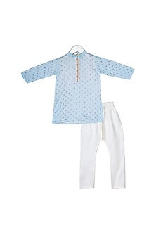 Sky Blue Embroidered Kurta Set by Little Stars