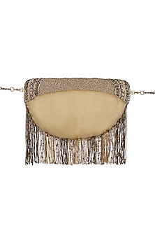 Golden Embroidered Fanny Pack by Lovetobag