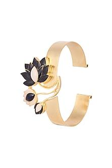 Gold Finish Blue Enamel Bracelet by Limited Edition