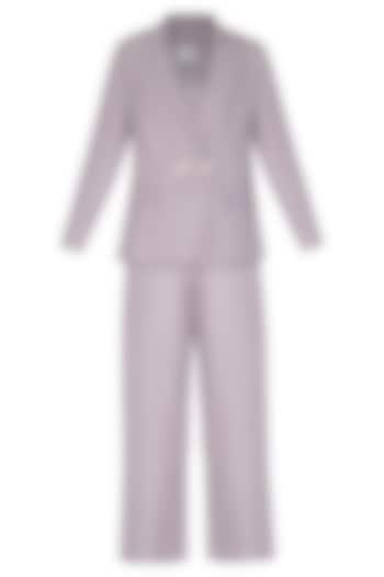 Purple Corduroy Blazer With Top & Pants by Little Things Studio