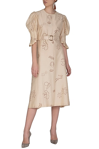 Ivory Shift Midi Dress by Little Things Studio