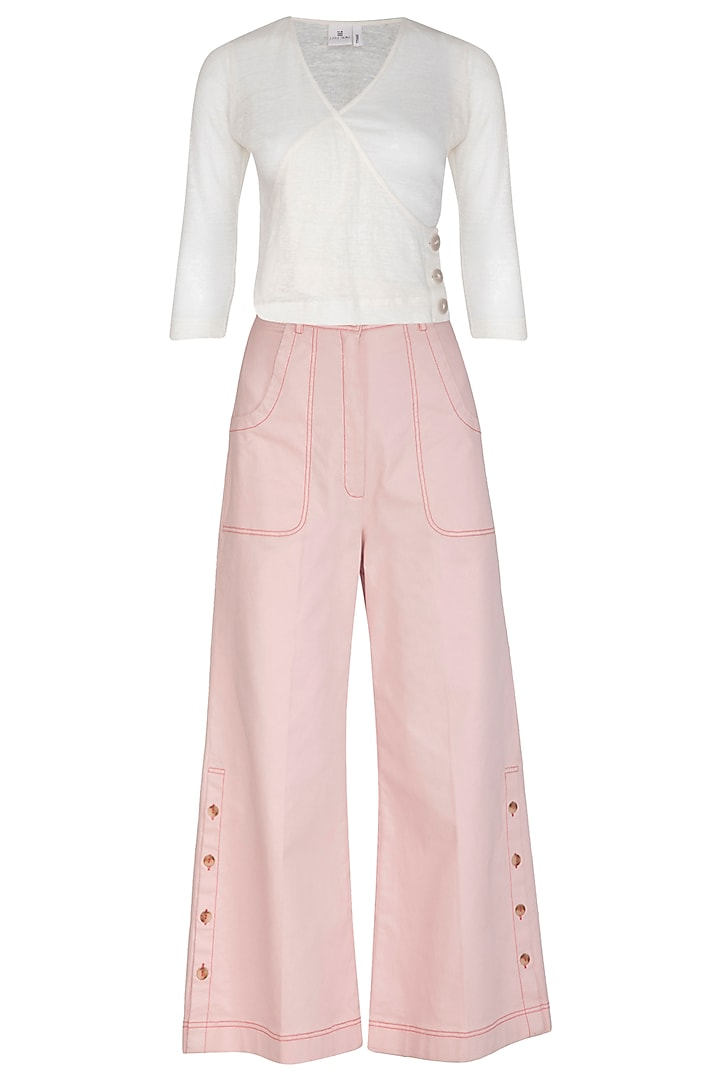White Top With Pink Pants by Little Things Studio