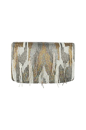 Multi Color Embroidered Clutch by Lovetobag