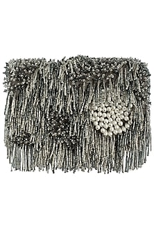 Silver embroidered tassel clutch by Lovetobag