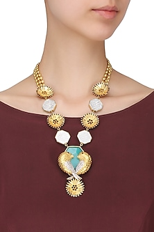 Gold Plated Bird Motif Necklace by Limited Edition