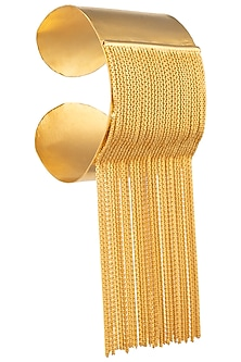 Gold Fringes Hand Cuff by Limited Edition