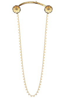 Gold Plated Floral Motif Chain Necklace by Limited Edition