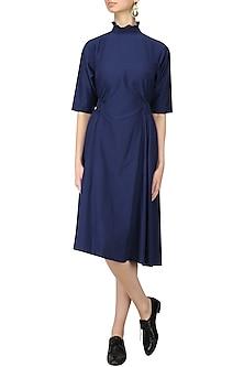 Blue Side Elasticated Dress by Lovebirds