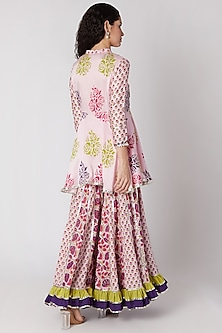 Blush Pink Sharara Set by Maayera Jaipur