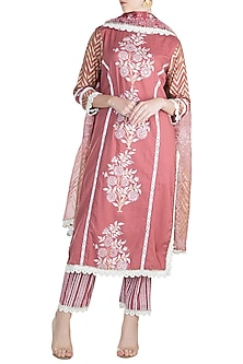 Brown Kurta Set by Maayera Jaipur