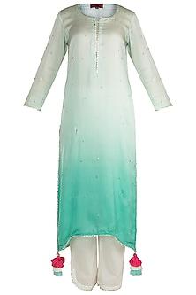Mint Green Ombre Kurta Set by Maayera Jaipur