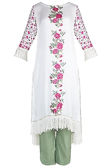 White Mul Kurta set by Maayera Jaipur