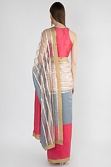 Multi Colored Embroidered Saree Set by Mandira Bedi