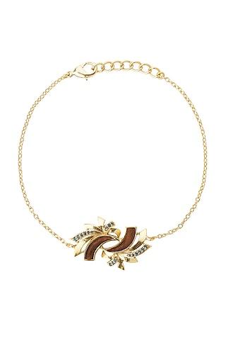 Gold Plated Blue Topaz Bracelet by Madiha Jaipur