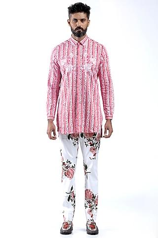 Pink Printed Shirt  by Mr. Ajay Kumar